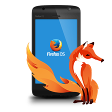 Firefox OS handets and fox logo
