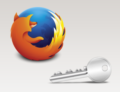 Firefox logo and the handicap symbol on a blue sphere