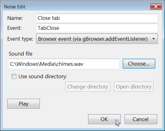 Firefox Noise add-on preferences manager 6