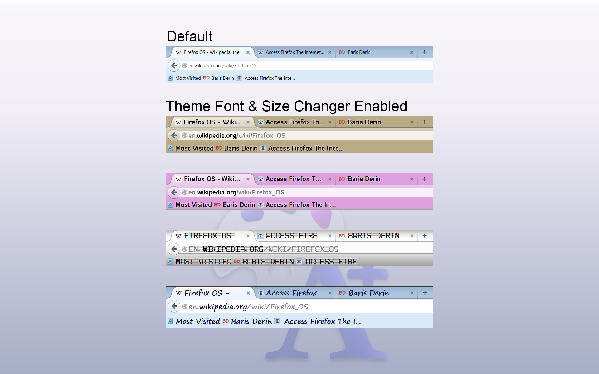 Theme Font & Size Changer: Change the font size and font
