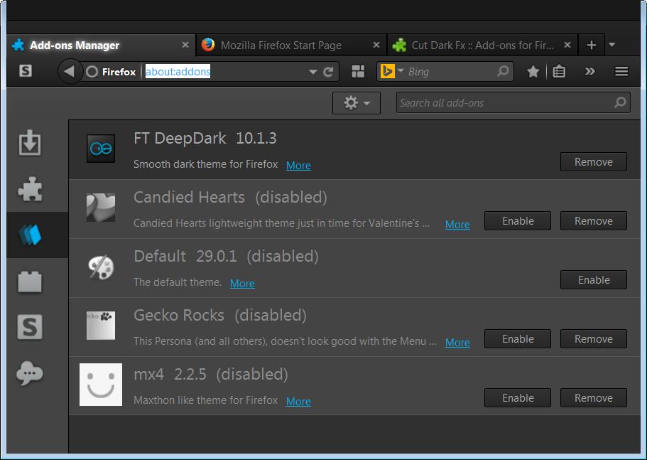 Firefox Add-on Options