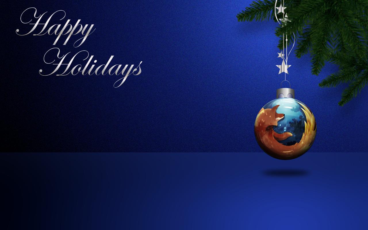 Mozilla Firefox Christmas Wallpaper